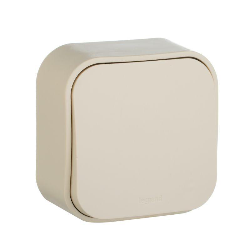 Выключатель одноклавишный Legrand Quteo 10A 250V слоновая кость 782230 выключатель одноклавишный кнопочный legrand quteo 6a 250v белый 782205