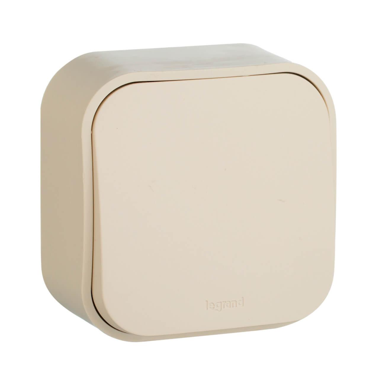 Выключатель одноклавишный кнопочный Legrand Quteo 6A 250V слоновая кость 782235 выключатель одноклавишный кнопочный legrand quteo 6a 250v белый 782205