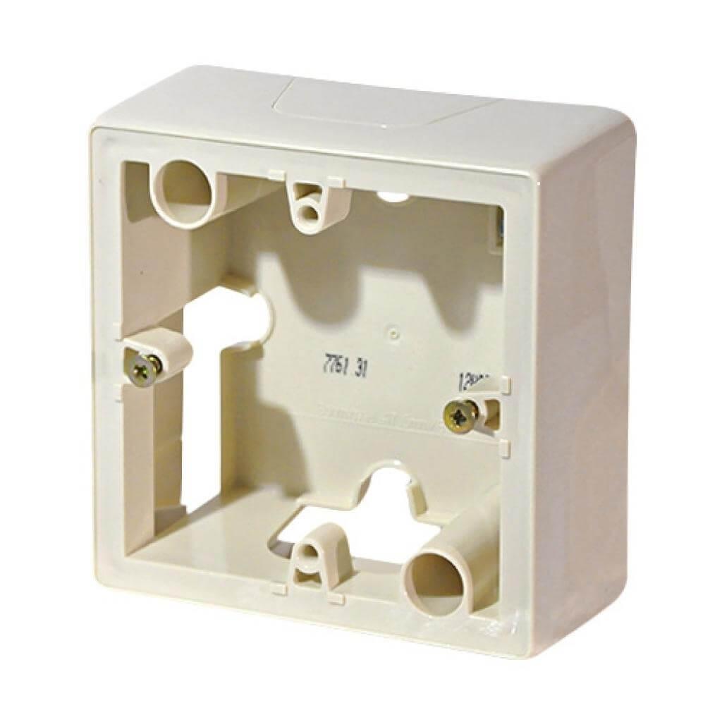цена на Коробка накладного монтажа 1-постовая Legrand Galea Valena слоновая кость 776131