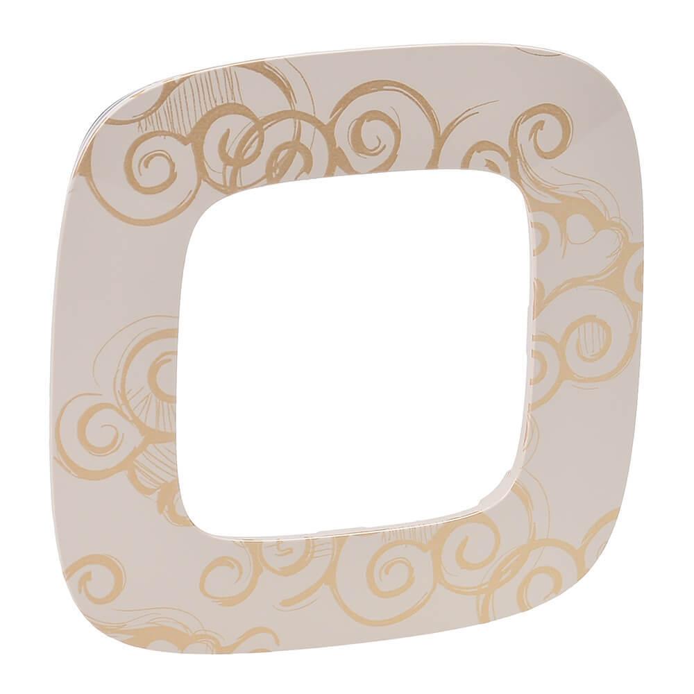 Рамка 1-постовая Legrand Valena Allure Нарцисс золото 754351