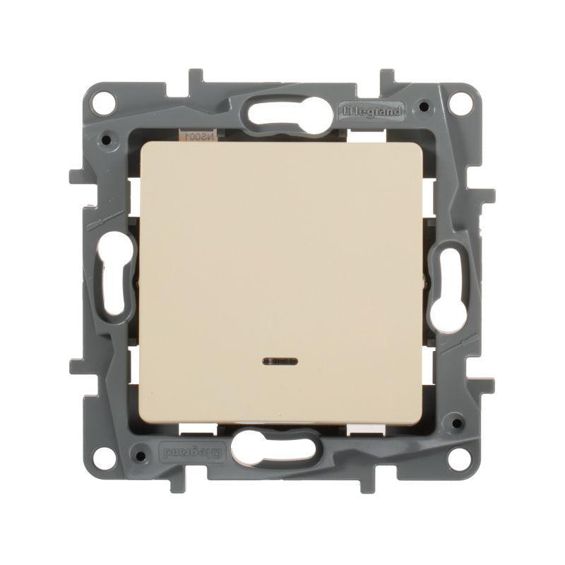 Выключатель Legrand 672303 Etika выключатель одноклавишный legrand etika 10a 250v антрацит 672601