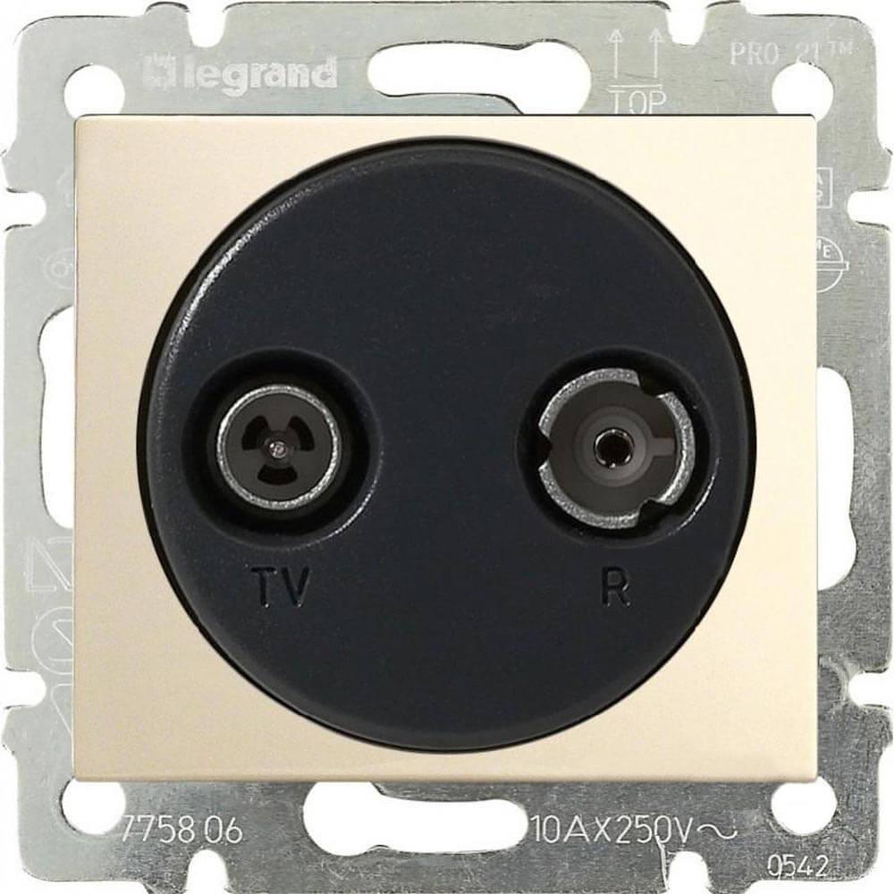 Розетка TV-R Legrand Valena Звезда слоновая кость 774332 стоимость