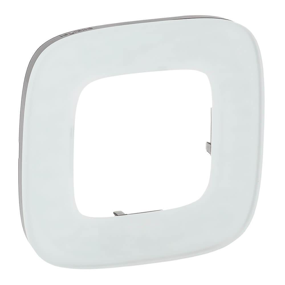 Рамка 1-постовая Legrand Valena Allure Белое стекло 755541 legrand legrand valena allure барокко нуар рамка 3 ая 754433