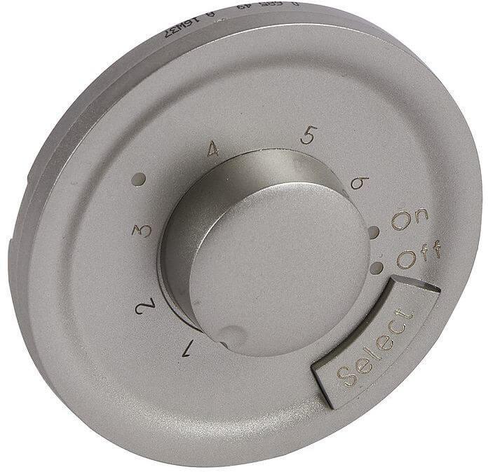 Лицевая панель Legrand Celiane термостата с датчиком для теплого пола титановая 068549 пластина термораспределительная 1000х130 для сухого водяного теплого пола