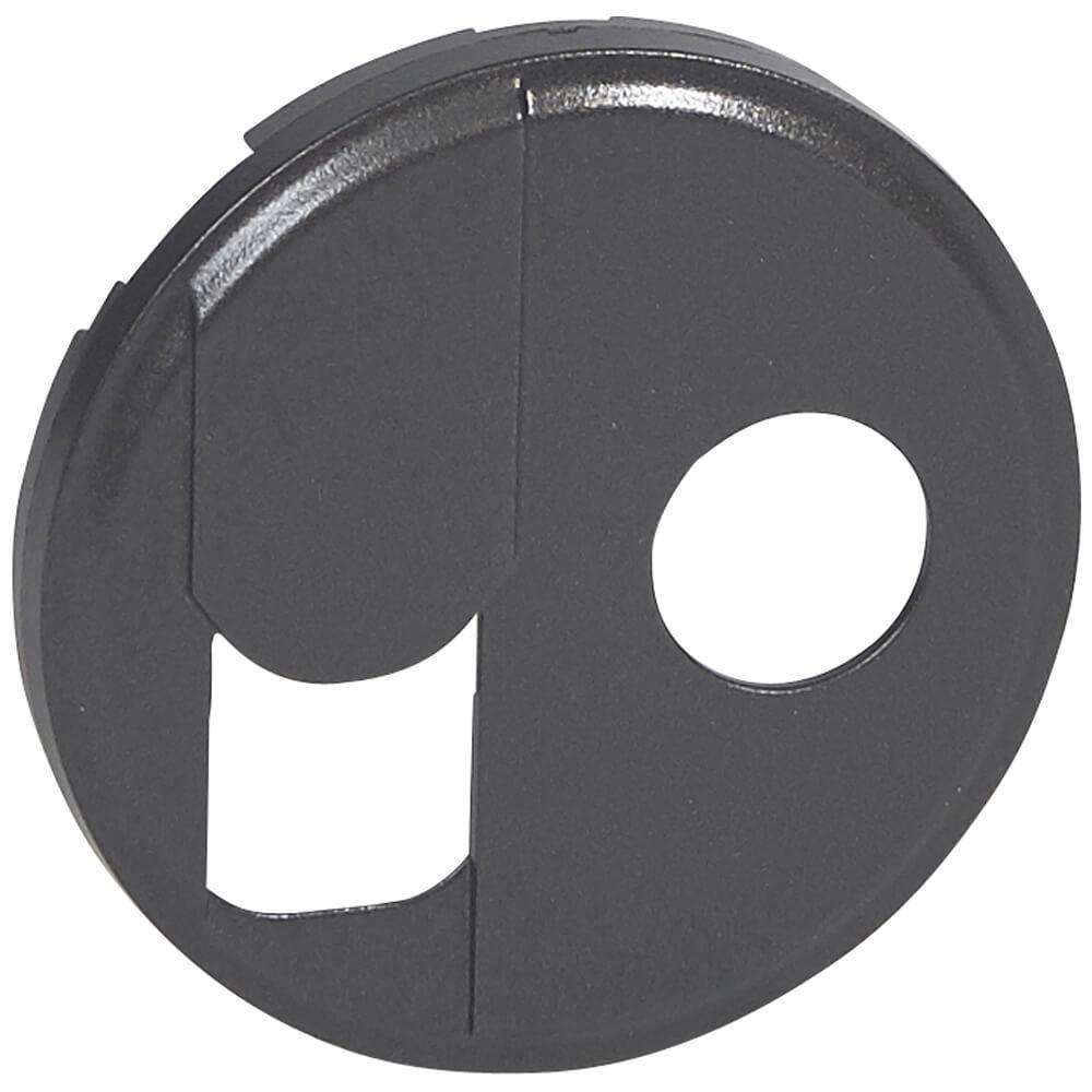 Лицевая панель Legrand Celiane розетки RJ45+ТV тип F графит 067939 цена