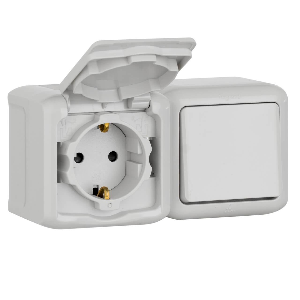 Выключатель Legrand 782348 Quteo выключатель одноклавишный кнопочный legrand quteo 6a 250v белый 782205
