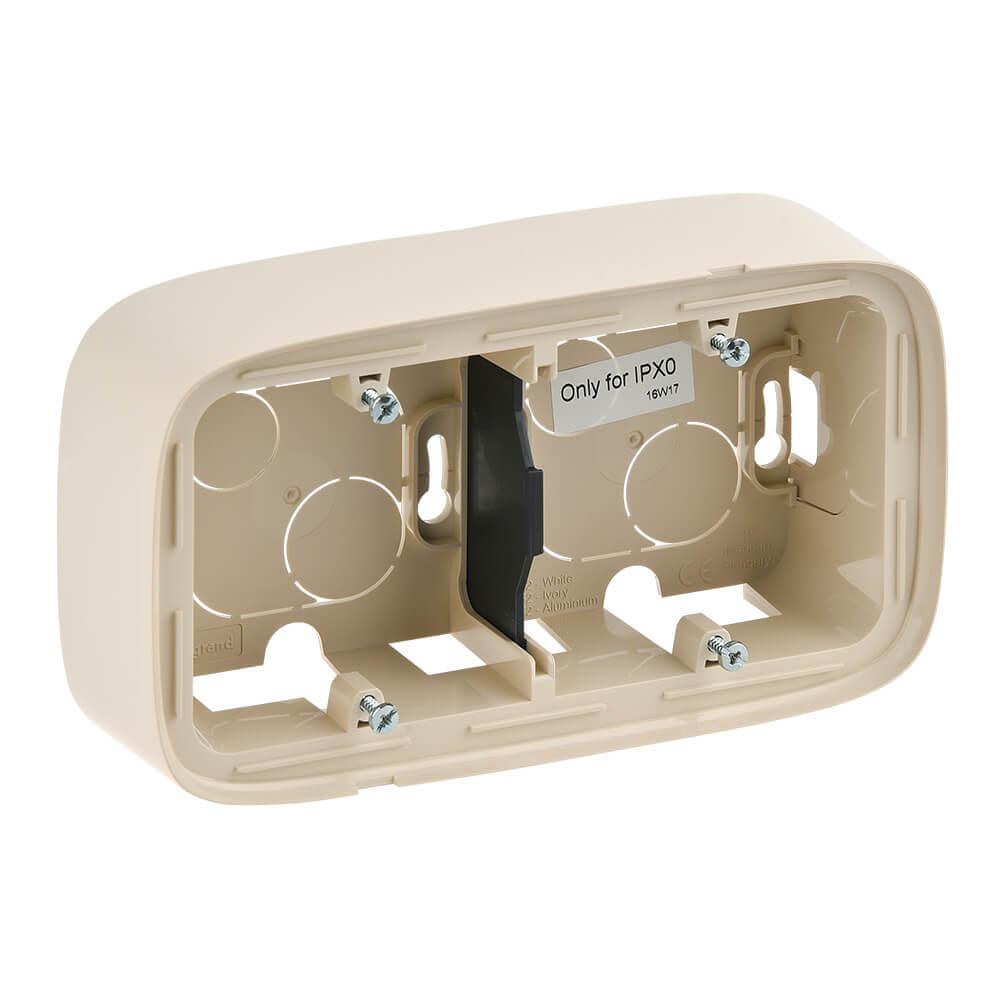 Коробка 2-постовая Legrand Valena Allure для накладного монтажа слоновая кость 755562 бокс для накладного монтажа rexant bn 01 бежевый