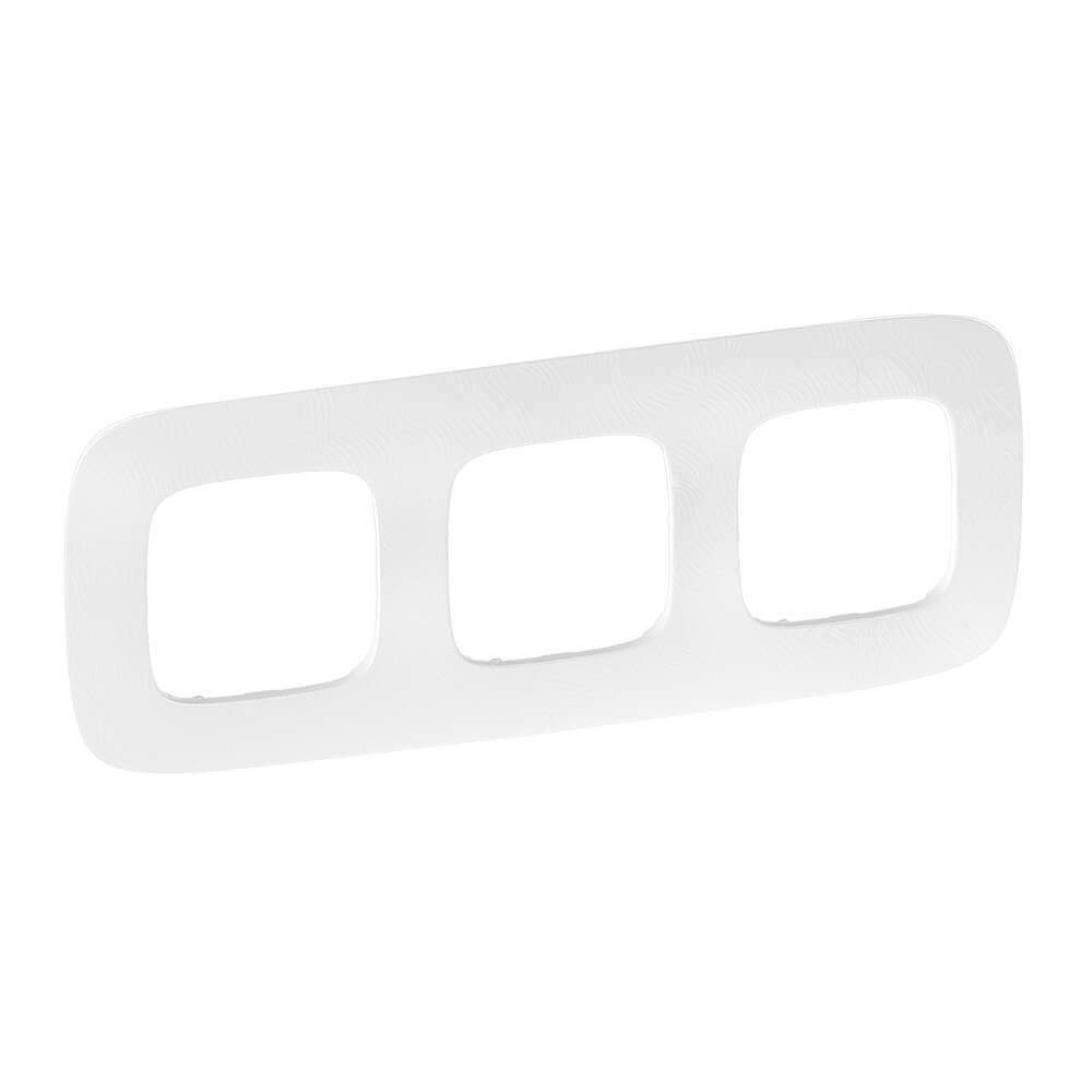 Рамка 3-постовая Legrand Valena Allure Тиснение белое 754373 legrand рамка 1 постовая legrand valena allure тиснение белое 754371