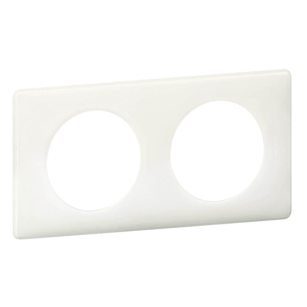 Рамка 2-постовая Legrand Celiane белый глянец 066632
