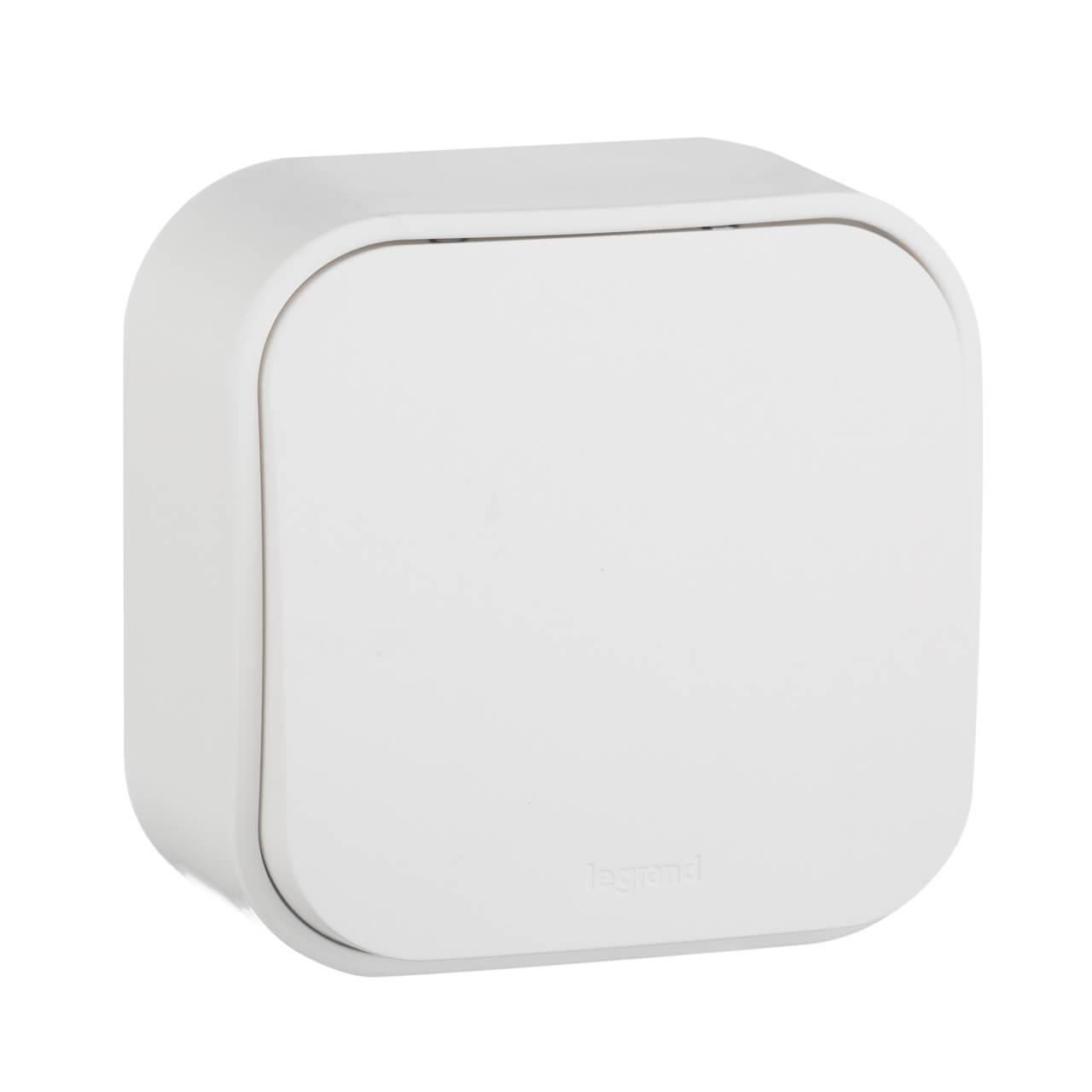 Выключатель одноклавишный кнопочный Legrand Quteo 6A 250V белый 782205 выключатель одноклавишный кнопочный legrand quteo 6a 250v белый 782205