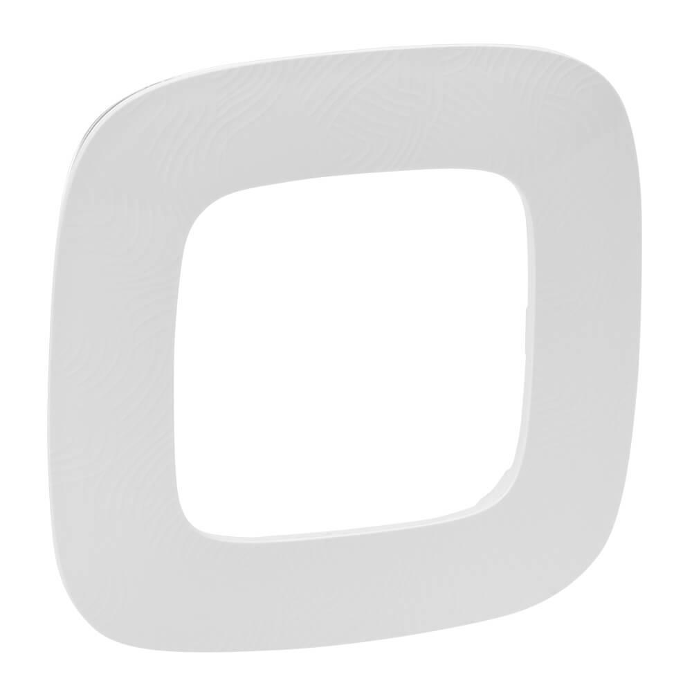 Рамка 1-постовая Legrand Valena Allure Тиснение белое 754371