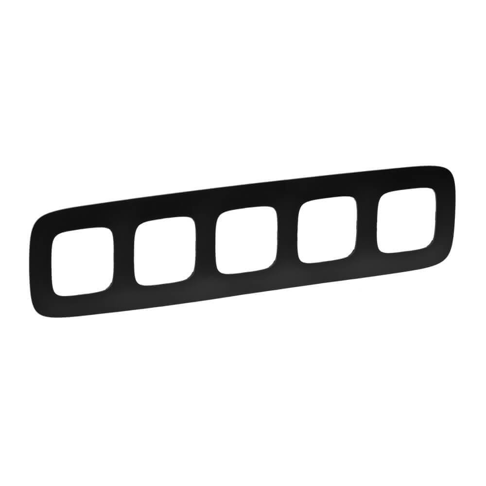 Рамка 5-постовая Legrand Valena Allure Матовый черный 754405 legrand legrand valena allure барокко нуар рамка 3 ая 754433