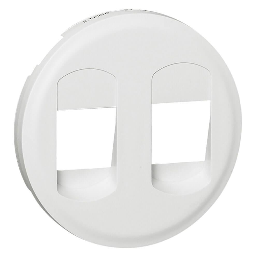 цена на Лицевая панель Legrand Celiane розетки акустической двойной белая 068212