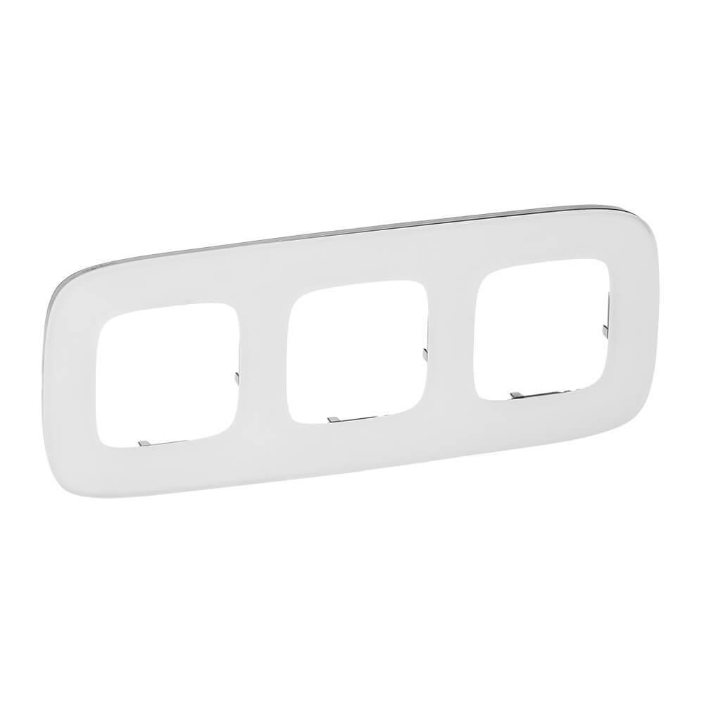 Рамка 3-постовая Legrand Valena Allure Белое стекло 755543
