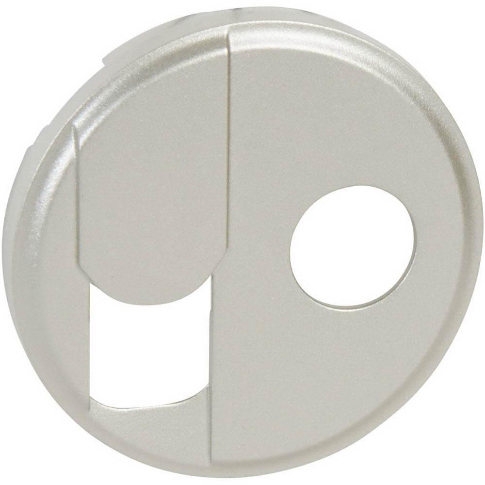 Лицевая панель Legrand Celiane розетки RJ45+ТV тип F титановая 068539 цена