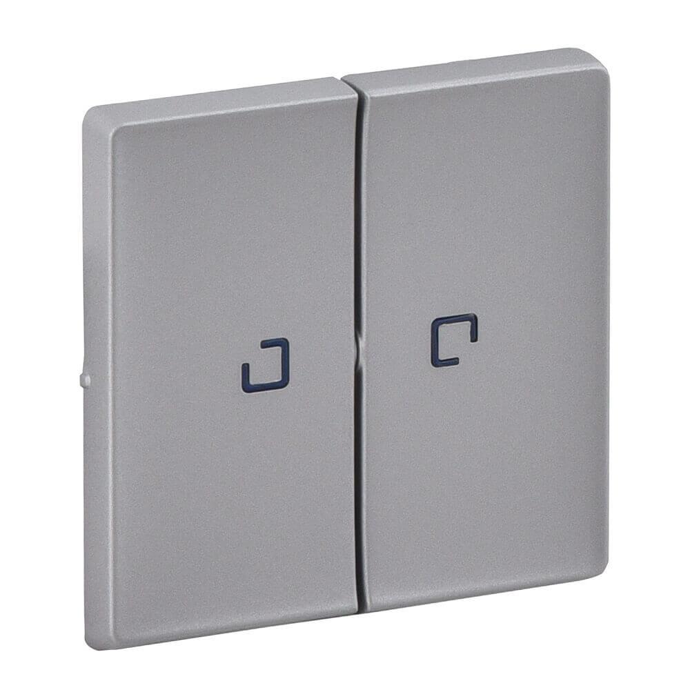 Лицевая панель Legrand Valena Life выключателя двухклавишного с подсветкой алюминий 755222 цена в Москве и Питере