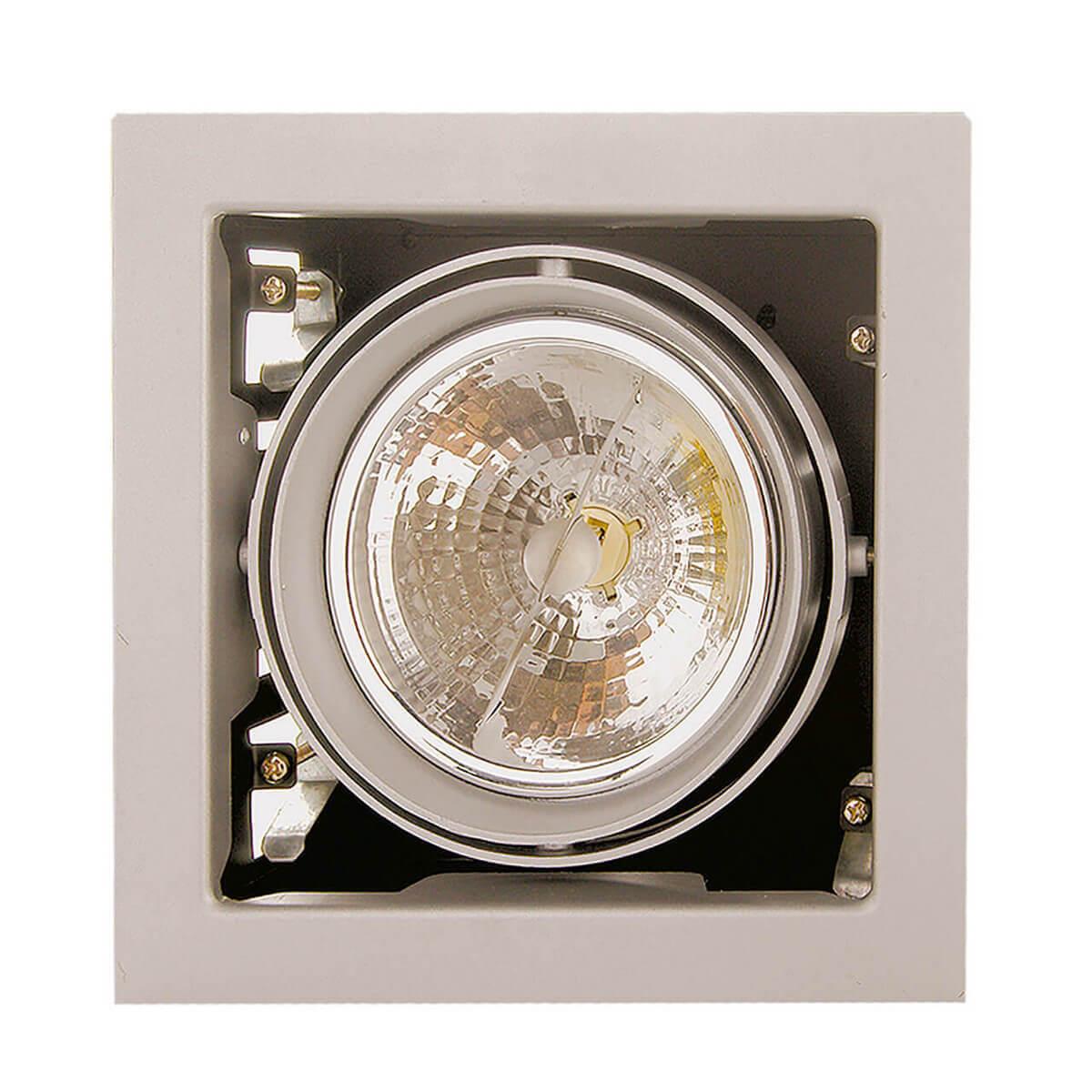 Светильник Lightstar 214117 Cardano (к светильнику подойдут лампы типоразмера DR111) встраиваемый светильник lightstar cardano 214117