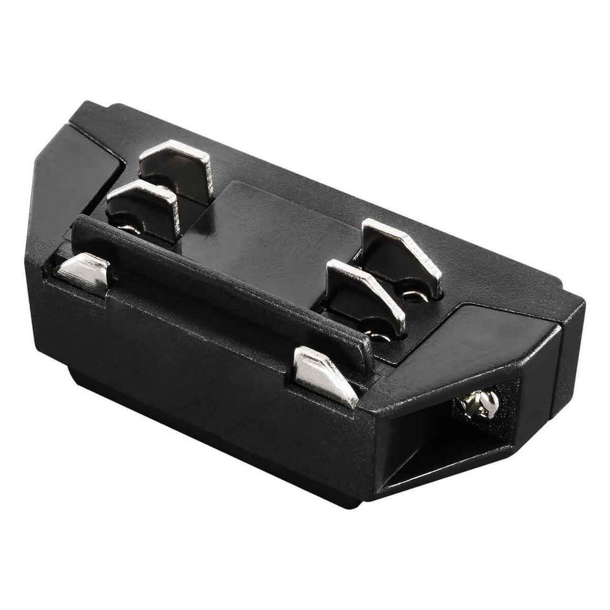 Коннектор Lightstar 504107 Barra Black (для трехфазного шинопровода)