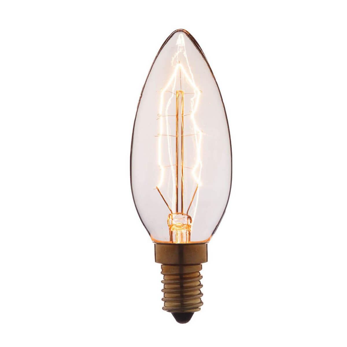 Лампа накаливания E14 60W прозрачная 3560 phillips лампа накаливания ge 60w e14 свеча прозрачная