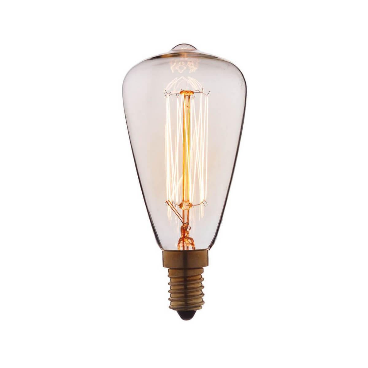 Лампа накаливания E14 60W прозрачная 4860-F phillips лампа накаливания ge 60w e14 свеча прозрачная