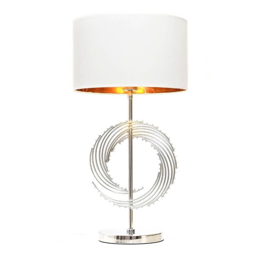 Настольная лампа Lumina Deco LDT 5531 CHR+WT Fabi