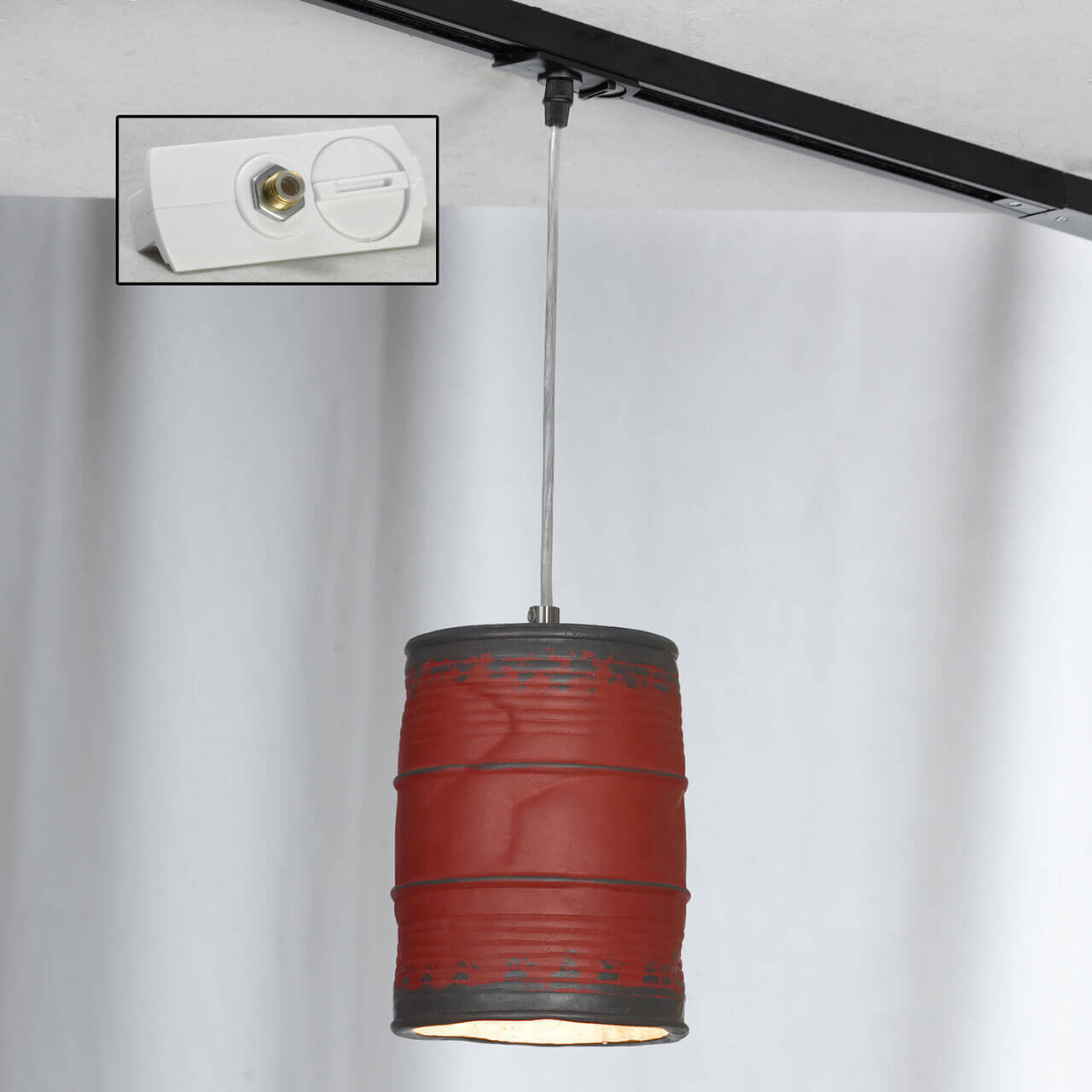 лучшая цена Трековый светильник однофазный Lussole LOFT Track Lights LSP-9527-TAW