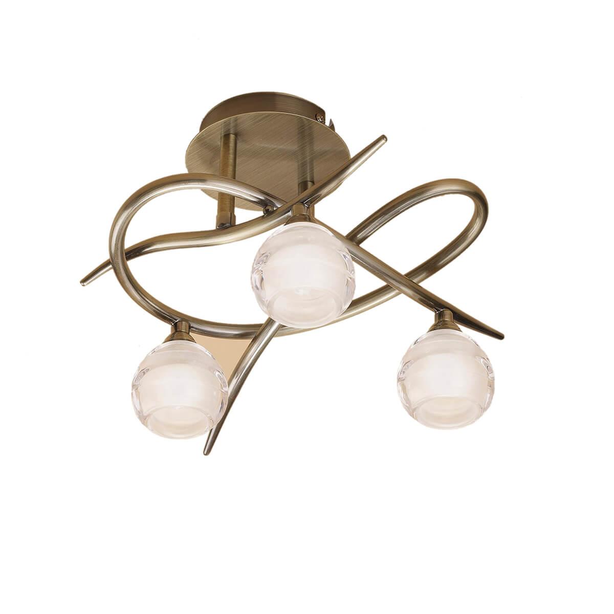 Потолочная люстра Mantra Loop Antique Brass 1824 цена