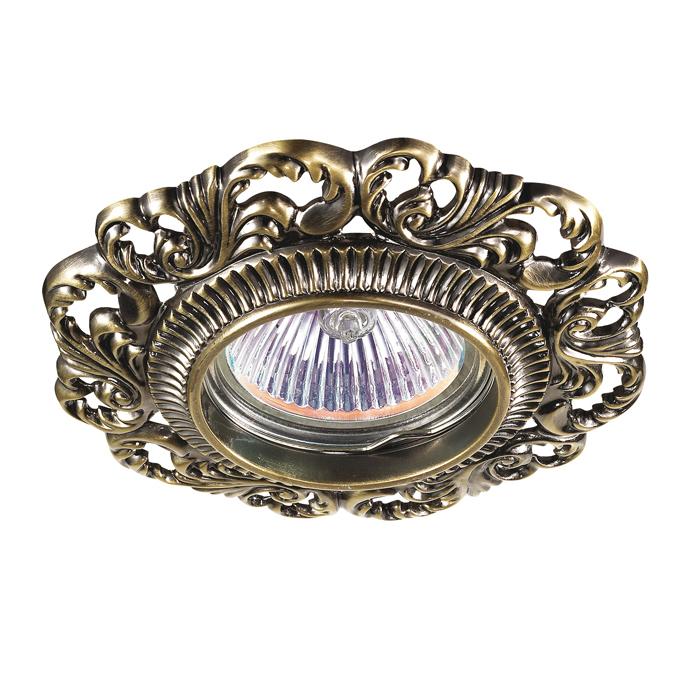 Встраиваемый светильник Novotech Vintage 122 370024 встраиваемый светильник novotech vintage 122 370024
