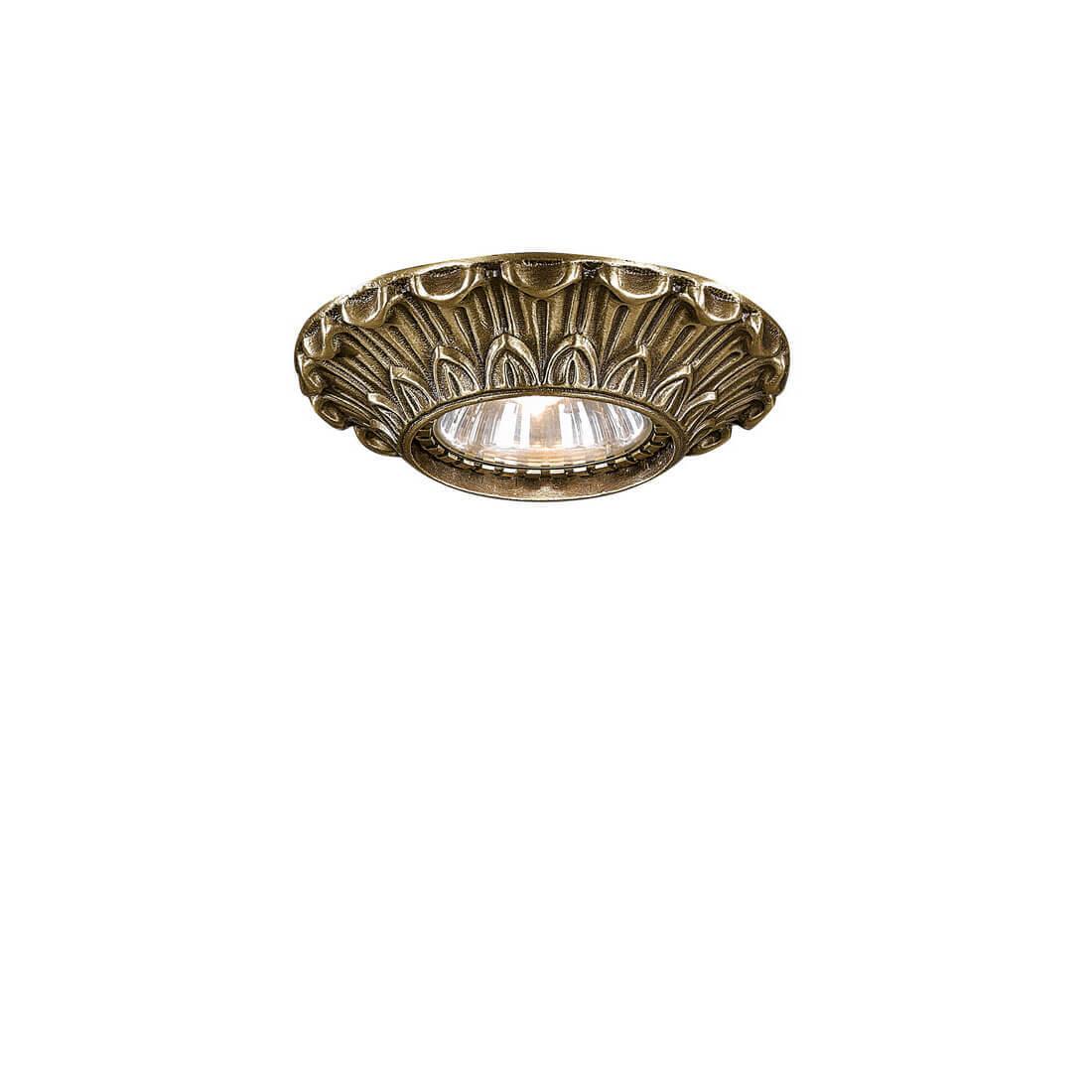Встраиваемый светильник Reccagni Angelo SPOT 1077 bronzo