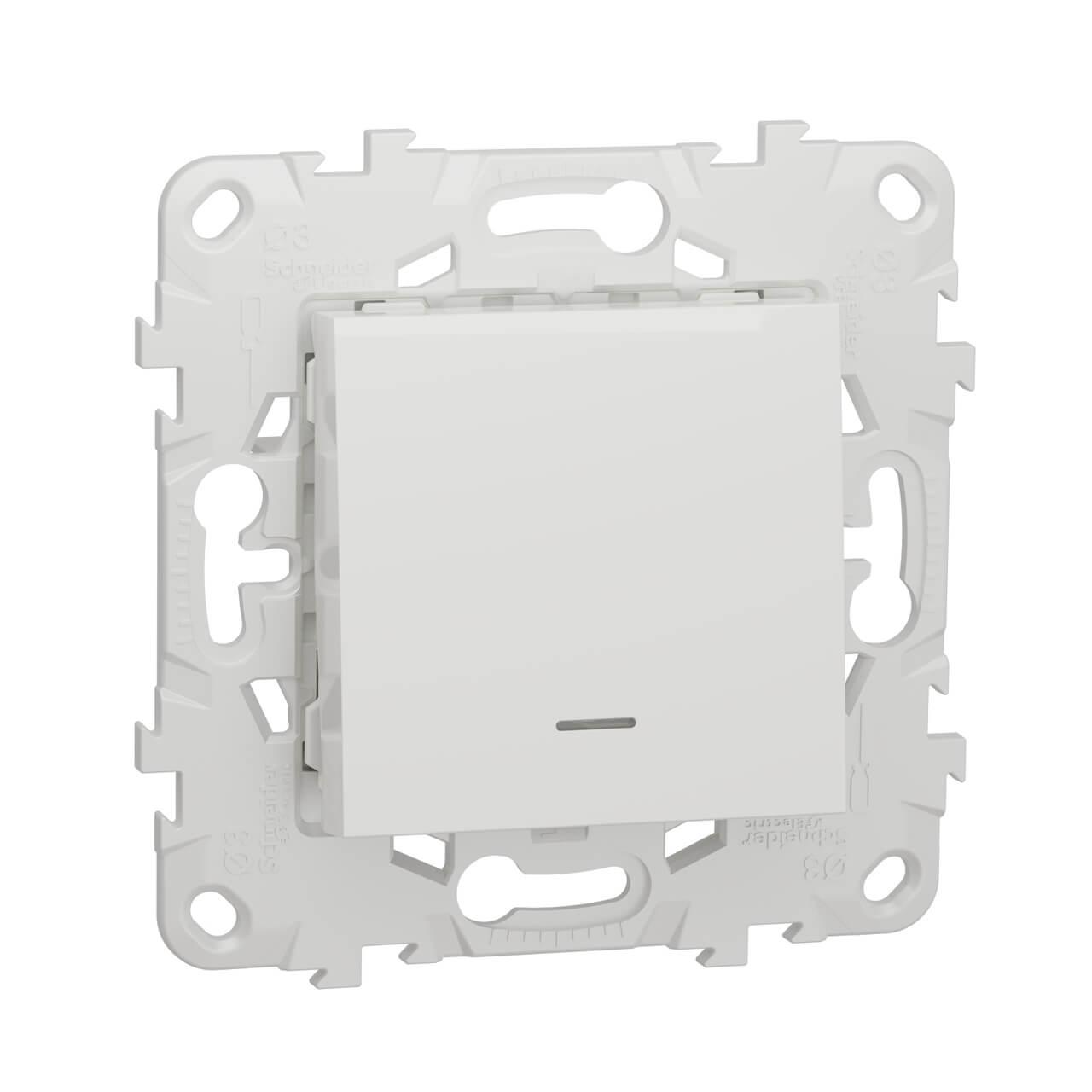 Переключатель одноклавишный Schneider Electric Unica New NU520318N