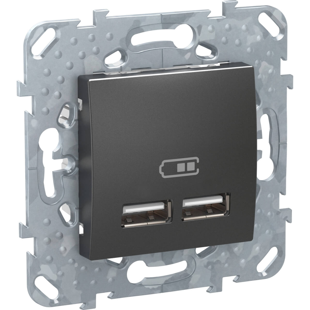 Розетка компьютерная USBx2 Schneider Electric Unica Top MGU5.418.12ZD заглушка 45х45 schneider electric unica mgu5 866 12zd