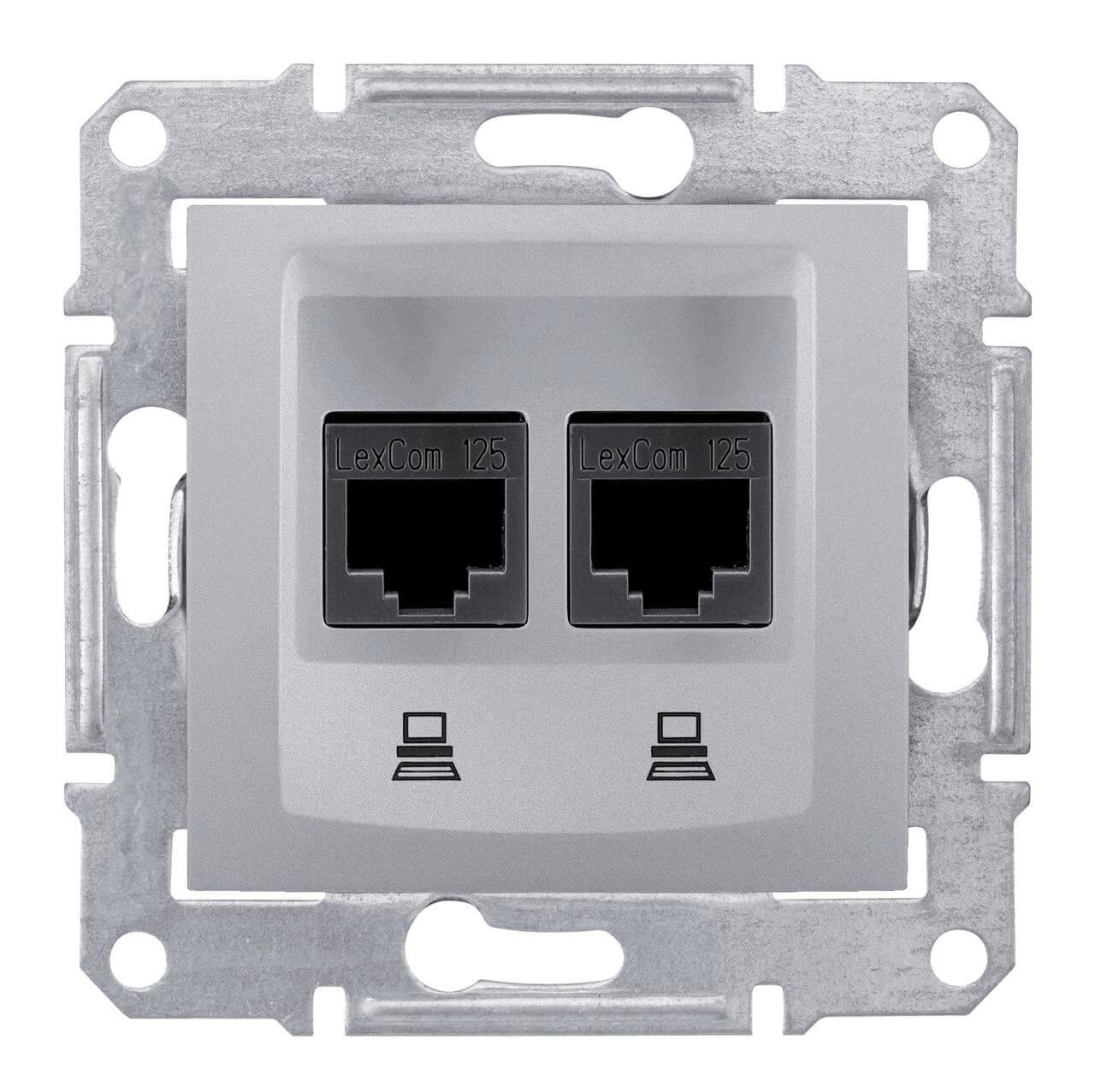 Розетка Schneider Electric SDN4400160 Sedna schneider se sedna графит tv sat розетка проходная 8db sdn3401270