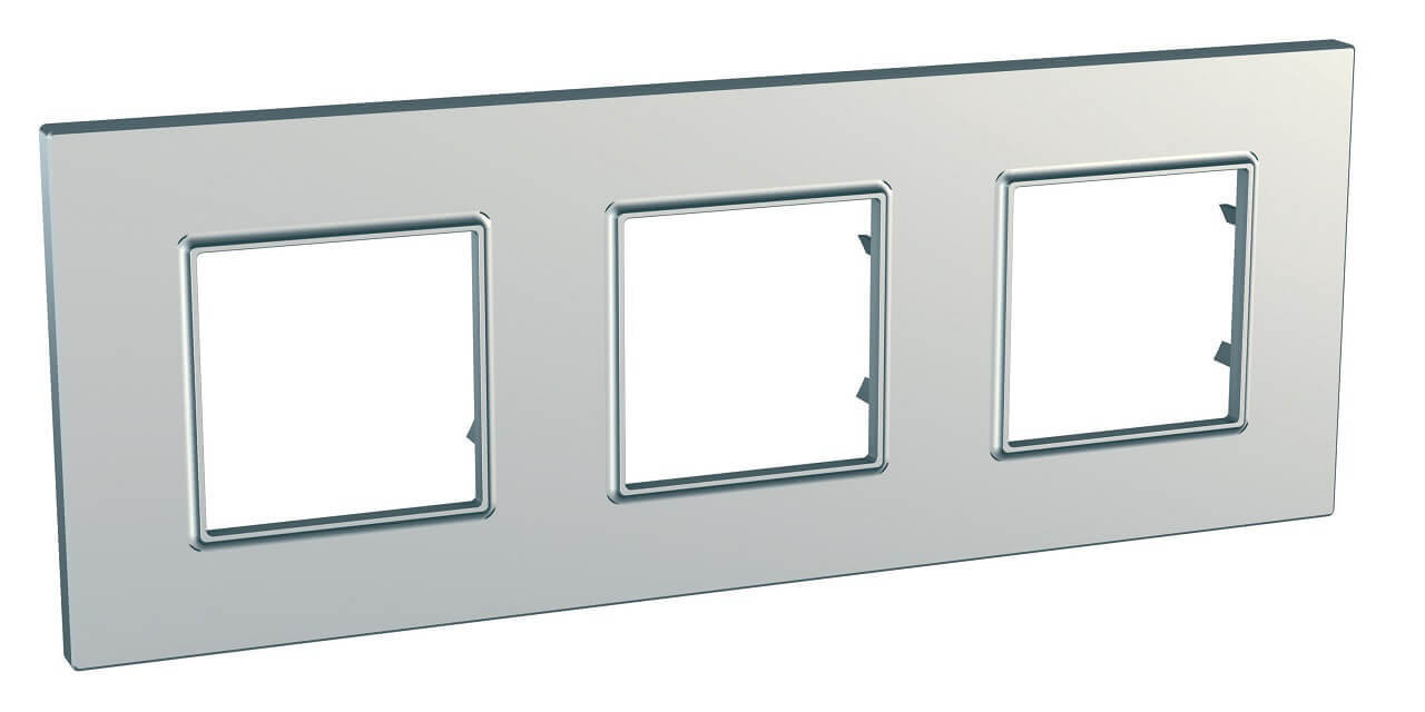 Рамка Schneider Electric MGU6.706.55 Unica Quadro (Подходит под механизмы Unica, Хамелеон, Quadro)