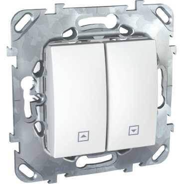 Выключатель двухклавишный для жалюзи Schneider Electric Unica MGU5.208.18ZD выключатель двухклавишный для жалюзи schneider electric unica mgu5 208 25zd