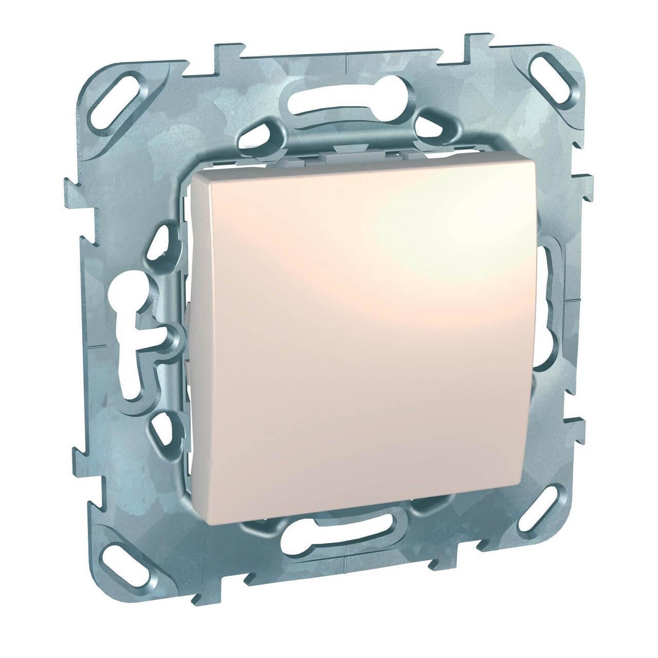 Выключатель одноклавишный кнопочный Schneider Electric Unica MGU5.206.25ZD schneider одноклавишный кнопочный выключатель unica с подсветкой графит