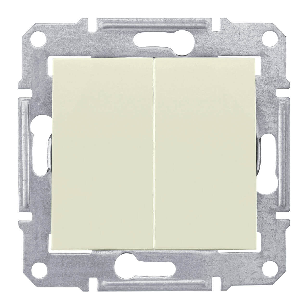 Переключатель двухклавишный Schneider Electric Sedna 10A 250V SDN0600147 переключатель schneider electric двухклавишный 16а alb45056