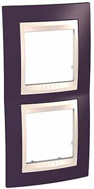 Рамка 2-постовая вертикальная Schneider Electric Unica Хамелеон MGU6.004V.572 рамка 2 постовая вертикальная schneider electric unica хамелеон mgu6 004v 18