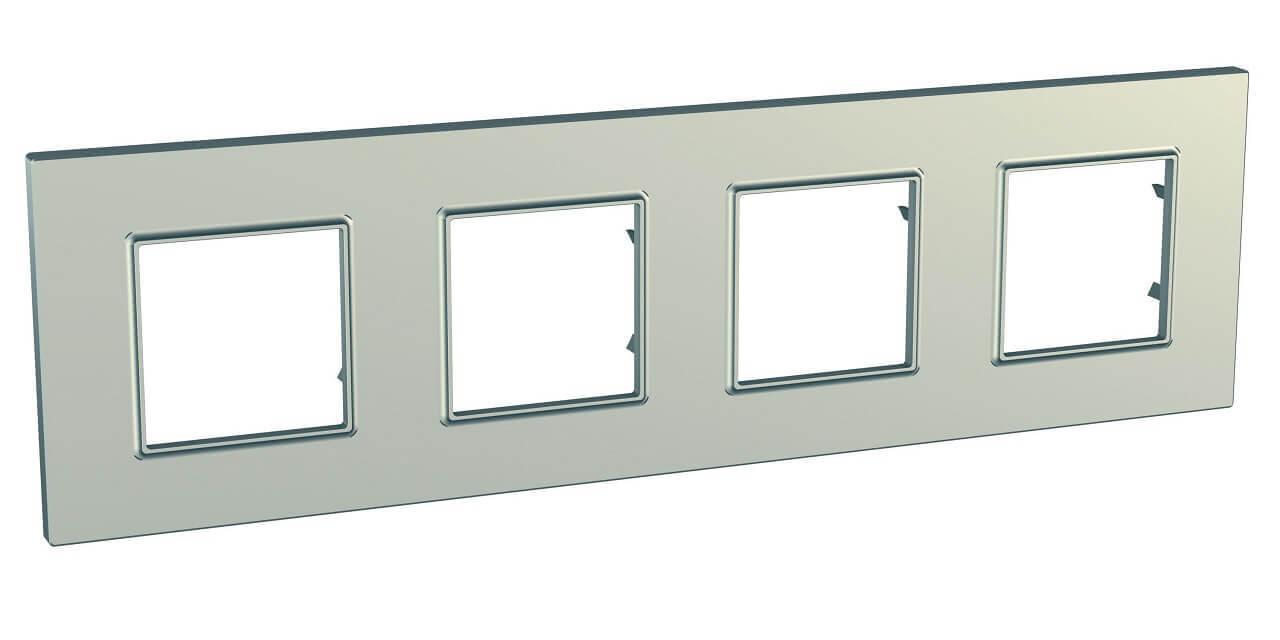 Рамка Schneider Electric MGU6.708.57 Unica Quadro (Подходит под механизмы Unica, Хамелеон, Quadro)