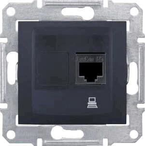 Розетка Schneider Electric SDN4700170 Sedna schneider se sedna графит tv sat розетка проходная 8db sdn3401270