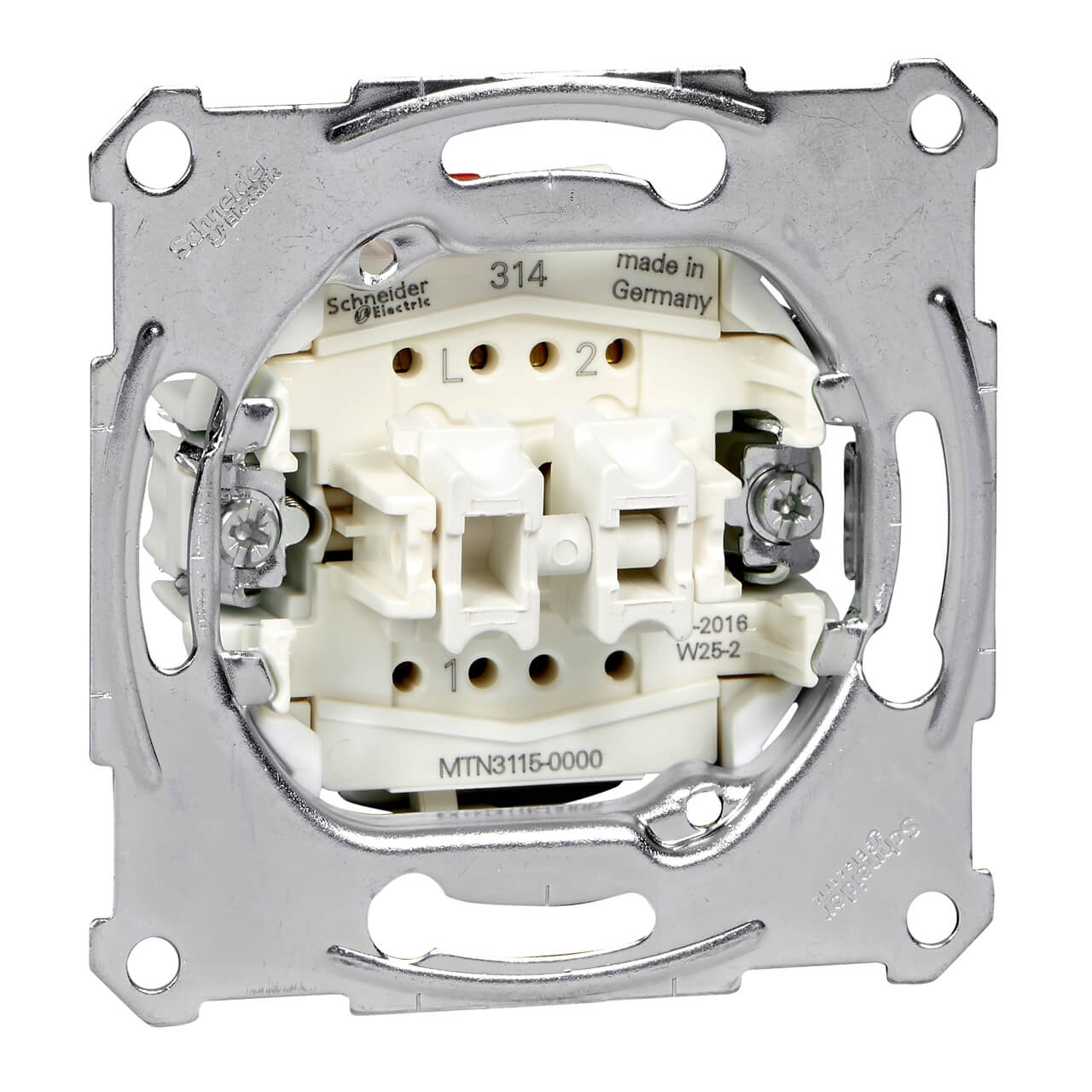 цена на Выключатель двухклавишный Schneider Electric Merten QuickFlex MTN3115-0000