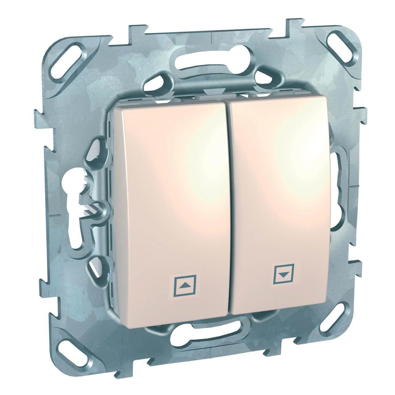 Выключатель двухклавишный для жалюзи Schneider Electric Unica MGU5.208.25ZD выключатель двухклавишный для жалюзи schneider electric unica mgu5 208 25zd