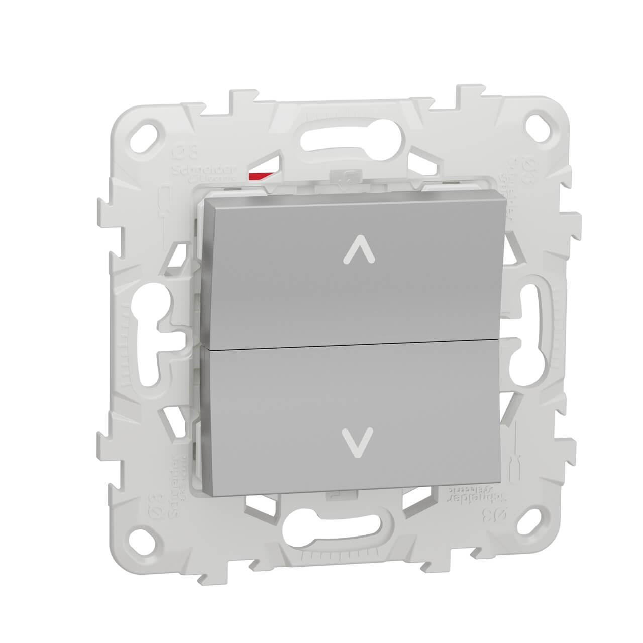цена на Выключатель двухклавишный Schneider Electric Unica New NU520730