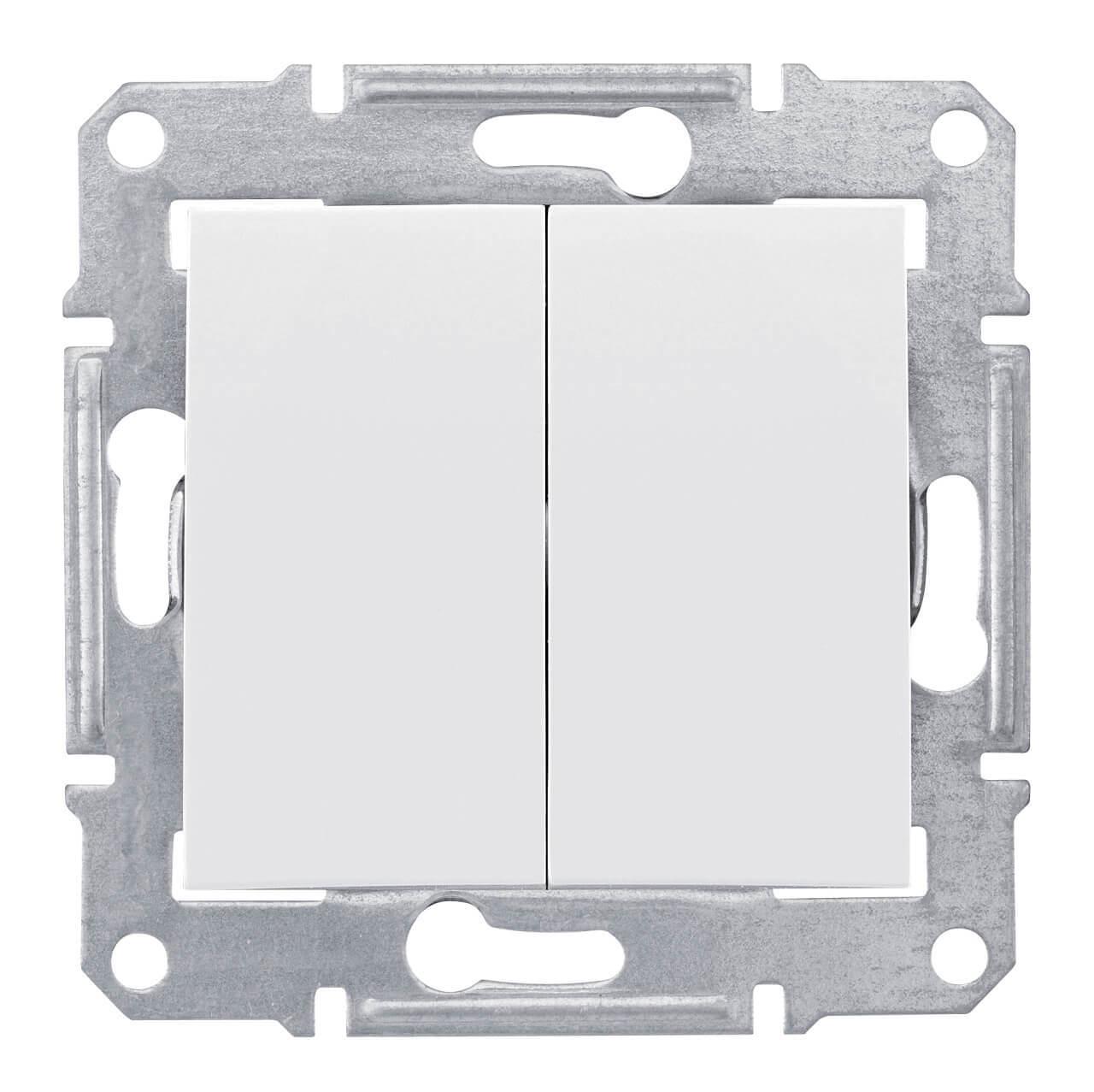 Выключатель двухклавишный Schneider Electric Sedna 10A 250V SDN0300121 выключатель двухклавишный с синей подсветкой sedna 10a 250v schneider electric 1265855