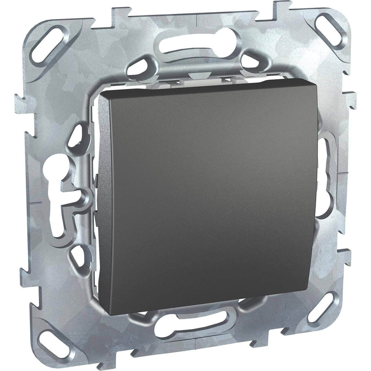 Выключатель одноклавишный Schneider Electric Unica 10AX 250V MGU5.201.12ZD заглушка 45х45 schneider electric unica mgu5 866 12zd