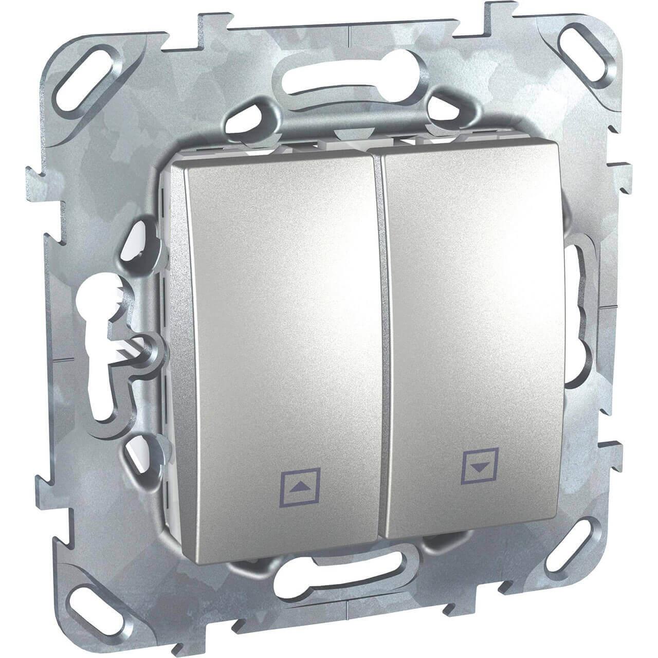 Выключатель двухклавишный для жалюзи без фиксации Schneider Electric Unica MGU5.207.30ZD выключатель двухклавишный для жалюзи schneider electric unica mgu5 208 25zd