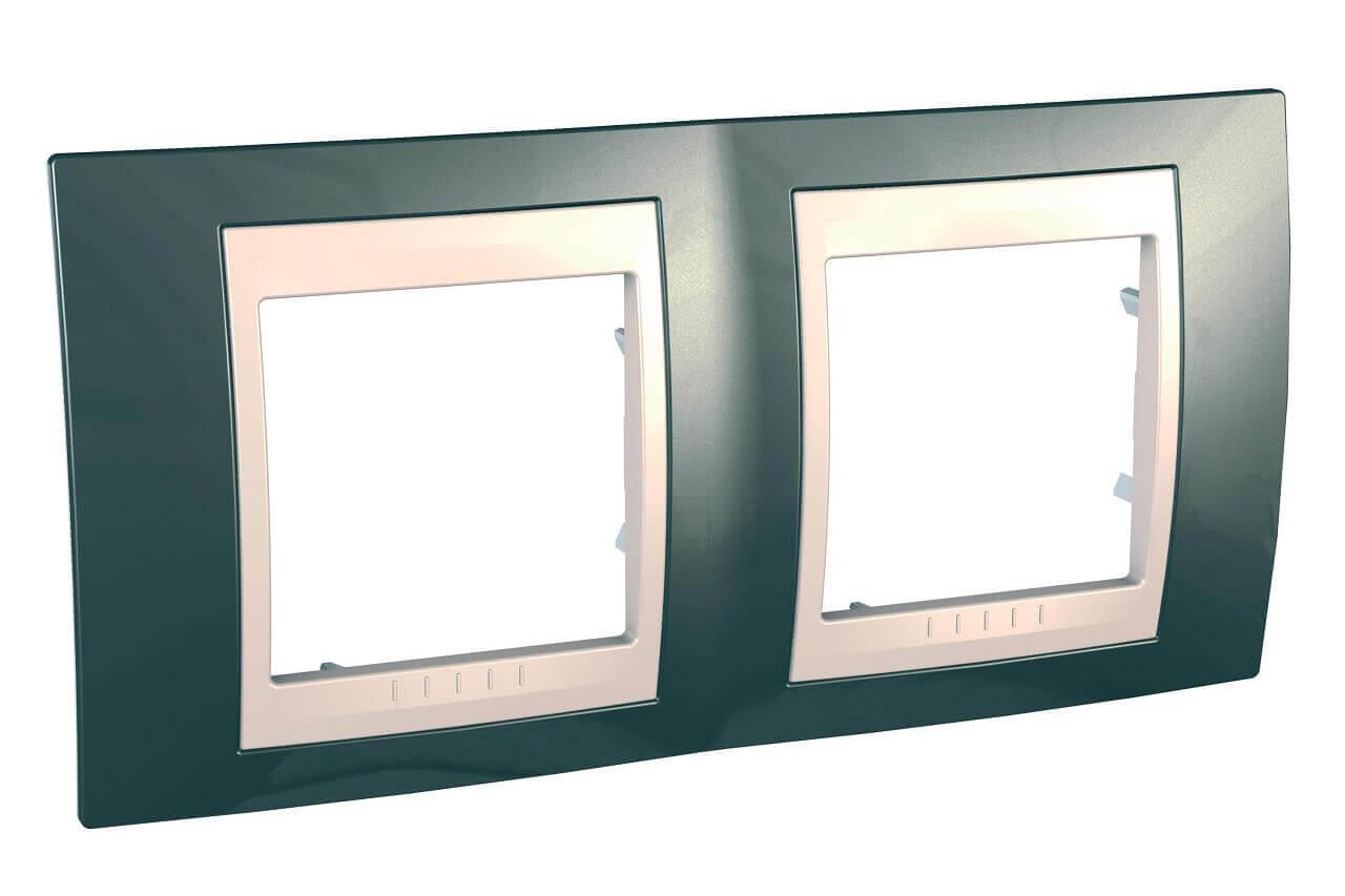 Рамка Schneider Electric MGU6.004.524 Unica Хамелеон (Подходит под механизмы Unica, Хамелеон, Quadro)