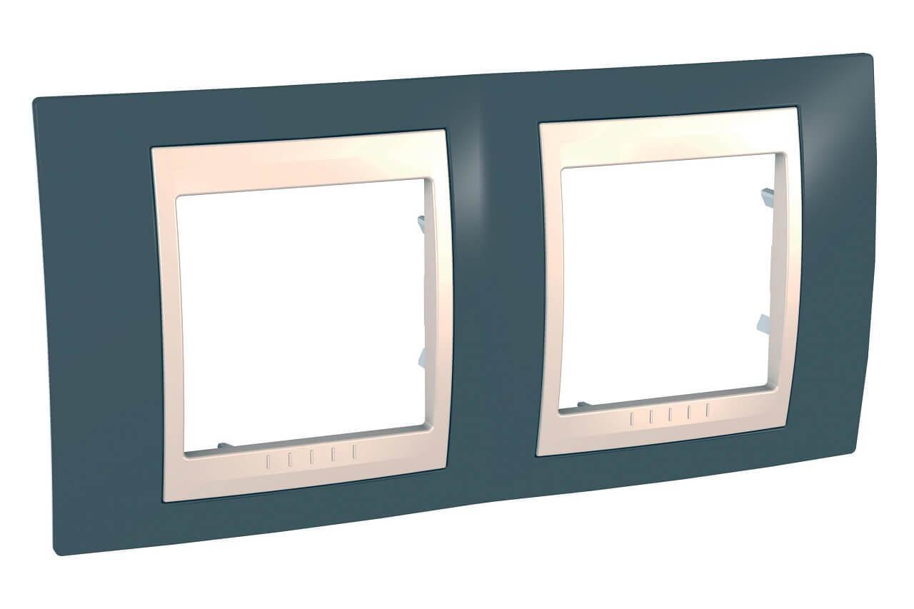 Рамка Schneider Electric MGU6.004.577 Unica Хамелеон (Подходит под механизмы Unica, Хамелеон, Quadro)