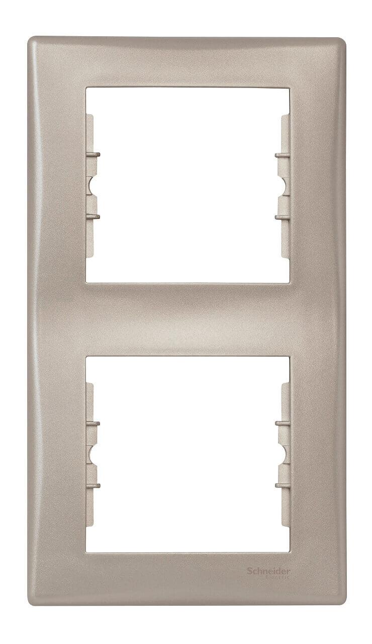 Рамка 2-постовая вертикальная Schneider Electric Sedna SDN5801168 цена в Москве и Питере