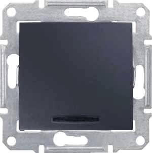 Выключатель одноклавишный с синей подсветкой Schneider Electric Sedna 10A 250V SDN1400170 выключатель двухклавишный с синей подсветкой sedna 10a 250v schneider electric 1265855