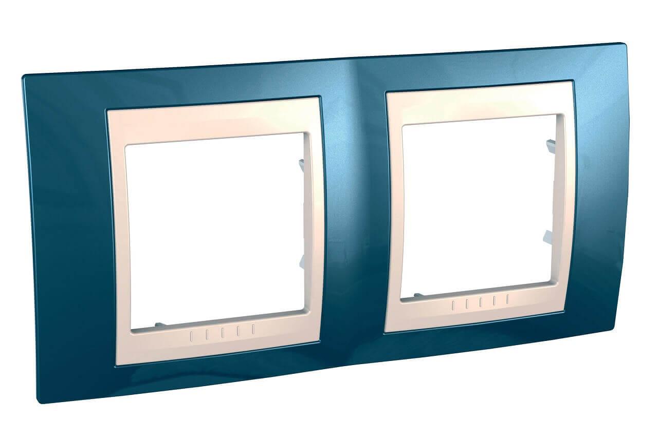 Рамка Schneider Electric MGU6.004.554 Unica Хамелеон (Подходит под механизмы Unica, Хамелеон, Quadro) фото